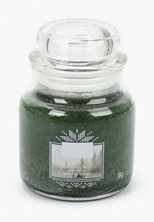 Свеча ароматическая Yankee Candle маленькая в стеклянной банке Вечнозеленая хвоя Evergreen Mist 104гр / 25-45 часов
