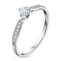 Кольцо из белого золота с бриллиантами э0901к_1119553 ЭПЛ Якутские Бриллианты