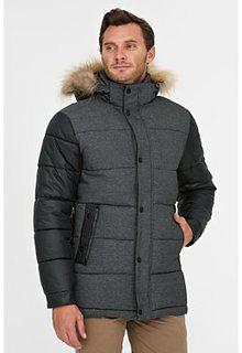 Короткая утепленная куртка с отделкой мехом енота Urban Fashion for men