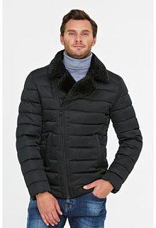 Короткая куртка на искусственном пуху с отделкой меховой тканью Urban Fashion for men