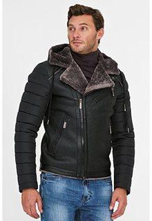 Утепленная куртка из экокожи Urban Fashion for men