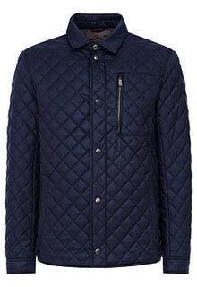 Утепленная куртка с отделкой экокожей Urban Fashion for men