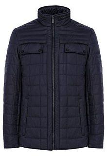 Стеганая куртка с отделкой экокожей Jorg Weber