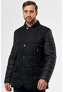 Утепленная куртка с комбинированными рукавами Madzerini