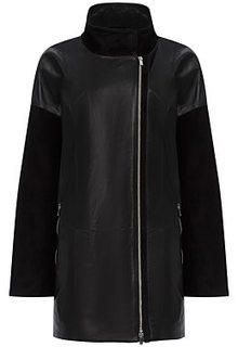Комбинированная кожаная куртка LE Monique