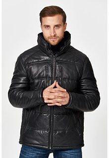 Утепленная кожаная куртка с меховой отделкой Urban Fashion for men