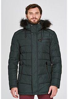 Стеганая утепленная куртка с отделкой мехом енота Urban Fashion for men