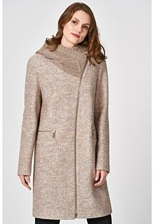 Пальто с трикотажным капюшоном Elema