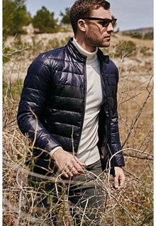 Пуховик из экокожи и текстиля Urban Fashion for men