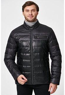 Утепленный пуховик из экокожи Urban Fashion for men