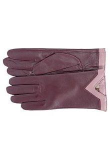 Кожаные перчатки с отделкой Labbra