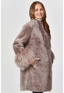 Шуба из овчины с отделкой мехом енота Virtuale Fur Collection