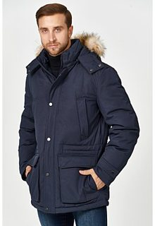 Утепленная куртка с отделкой экомехом Jorg Weber