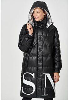 Утепленное пальто из натуральной кожи Vericci