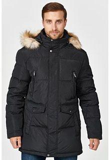 Утепленная куртка с отделкой экомехом Urban Fashion for men