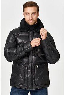Кожаная куртка с отделкой овчиной Jorg Weber