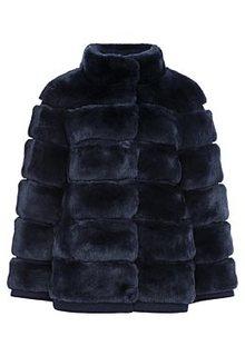 Короткая шуба из меха кролика Virtuale Fur Collection