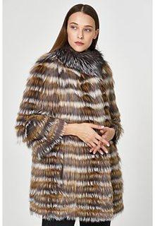 Облегченная комбинированная шуба из меха лисы Virtuale Fur Collection