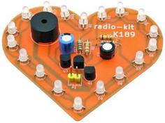 Конструктор Радио КИТ Световой эффект Музыкальное сердце RL189