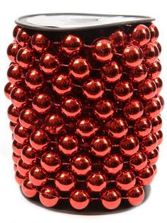 Украшение Kaemingk Бусы Бисер XL 5m Red 001105
