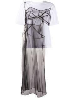 Quetsche футболка с прозрачными вставками