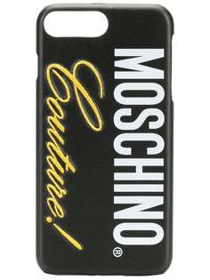 Moschino чехол для iPhone 8 Plus с логотипом