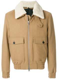Ami Paris куртка на молнии с воротником из овчины