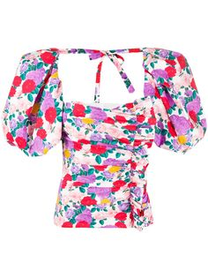Giuseppe Di Morabito блузка с оборками и цветочным принтом