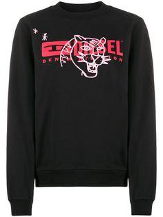 Diesel свитер с длинными рукавами и логотипом