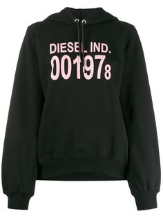 Diesel худи с длинными рукавами и логотипом