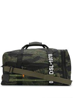 Diesel дорожная сумка с камуфляжным принтом