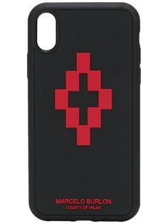 MARCELO BURLON COUNTY OF MILAN чехол для iPhone XR с логотипом