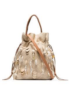 Aranáz сумка Oona из рафии с пайетками
