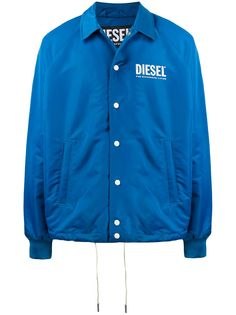 Diesel куртка с вышитым логотипом