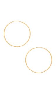 Серьги-кольца infinity - Sachi
