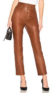 Брюки leather straight leg - LPA