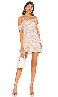 Цветочное мини платье с вышивкой poppy - Lovers + Friends