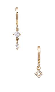 Серьги-кольца starlight mismatched mini - Natalie B Jewelry