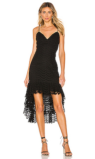 Платье с асимметричным подолом - Bardot