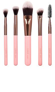 Набор кистей для макияжа rose gold travel - Luxie