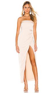Вечернее платье без бретелек lucilda - NBD