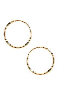 Серьги-кольца classic - ERTH