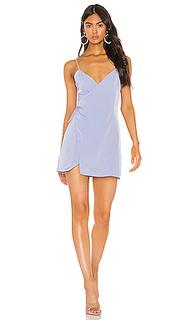 Платье с запахом спереди luca - superdown