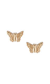 Серьги-гвоздики butterfly - Natalie B Jewelry