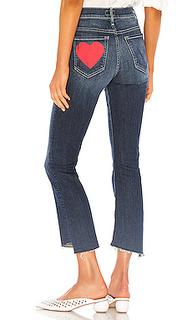 Укороченные расклёшенные джинсы insider - MOTHER