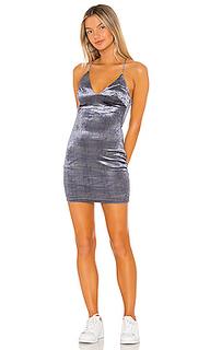 Бархатное мини платье parker - superdown