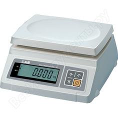 Весы (2 дисплея) cas sw-5 1a0sw5502gci0501