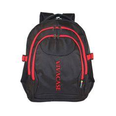 Рюкзак Vivacase для ноутбука Business Lux 15.6, цвет: черный/красный