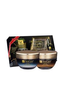 Подарочный 24K GOLD набор №1, Антивозрастные Крем и Маска для лица с Реноваж,Золотом и Витамином Е SeaCare