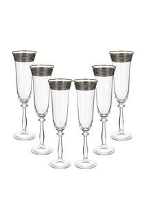 Бокал для шампанского, 6 шт BOHEMIA CRYSTAL
